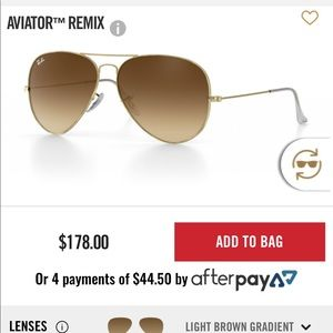 Ray-Ban light brown gradient aviators